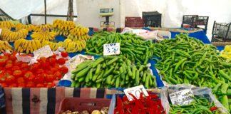 Alanya marked, frugt og grønt,