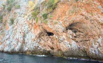 Alanya grotter, bådtur alanya, grotter i klipper, alanya
