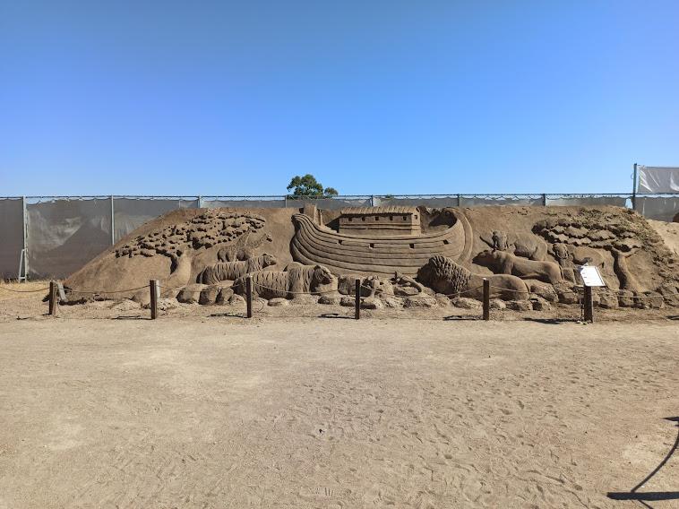 sandmuseum, sandmuseet i antalya, sandland, sand sculpture museum